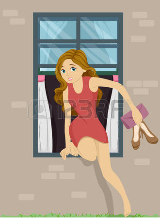 28752092-illustration-of-a-girl-sneaking-out-from-her-bedroom-window