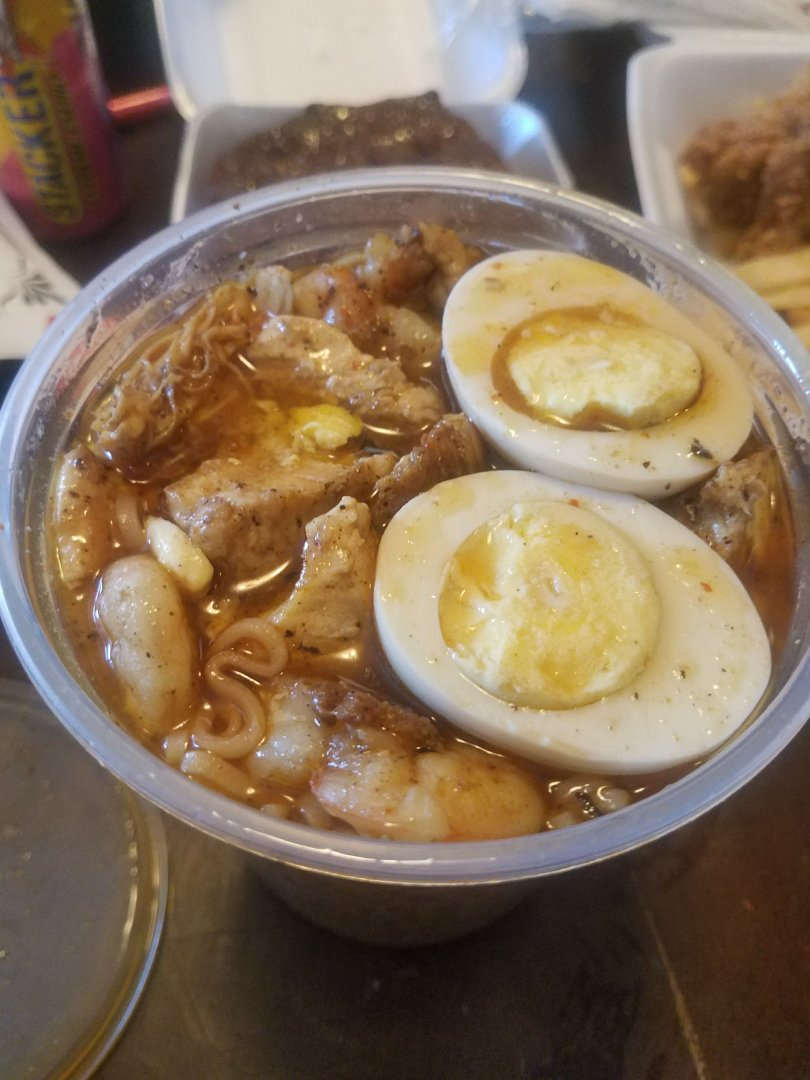 It's sorta like New Orleans yaka mein and honestly I do not know which one is better. The base of this soup has a deep soulful flavor, the chicken was roasted and seasoned well. It was super good.